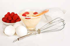 Zabaglione recipe Stock Photos
