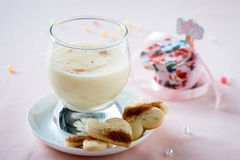 Zabaione, Italian dessert made of egg yolks, sugar, and Marsala Royalty Free Stock Photos