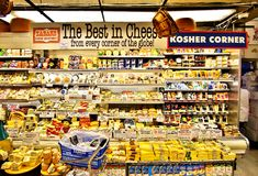 Zabars deli and grocery store in Manhattan Royalty Free Stock Photos