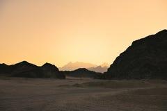 Zabarwiający wizerunku krajobraz Arabska pustynia Obraz Royalty Free