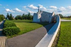 Zabawa,波兰- 2016年7月20日:对Acci的受害者的纪念碑 库存照片