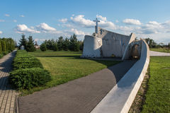 Zabawa,波兰- 2016年7月20日:对Acci的受害者的纪念碑 免版税库存图片