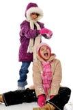 zabawa śniegu Zdjęcia Royalty Free