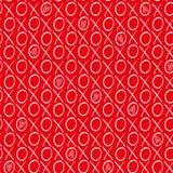 Zabawa biel i czerwień wręczamy patroszonych serca, ściskamy geometrycznego wektoru wzór na wibrującym czerwonym tle i całujemy royalty ilustracja