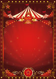Zabawa czerwony cyrkowy plakat Zdjęcie Stock
