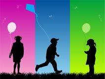 zabawa dla dzieci Obrazy Royalty Free