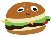 Zabawa hamburger Obrazy Stock