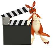 Zabawa kangura postać z kreskówki z clapboard Fotografia Stock