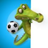 Zabawa krokodyl ilustracja wektor