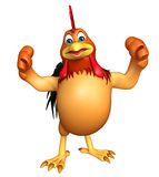 Zabawa kurczaka śmieszny postać z kreskówki Zdjęcie Royalty Free