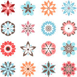 Zabawa kwiaty ustawiający Obrazy Royalty Free