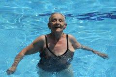 zabawa ma starszej kobiety Fotografia Stock