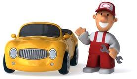 Zabawa mechanik - 3D ilustracja Zdjęcie Stock