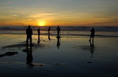 zabawa na plaży słońca Obraz Royalty Free