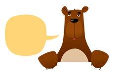 Zabawa niedźwiadkowy charakter Obrazy Royalty Free