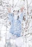 zabawa śnieg Zdjęcia Royalty Free