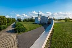 Zabawa, Polen - 20. Juli 2016: Monument zu den Opfern von Acci Lizenzfreie Stockbilder