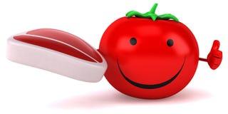 Zabawa pomidor ilustracji