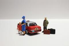 Zabawa postać w miniaturowym świacie Zdjęcia Stock