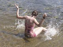 Zabawa przy plażą (1) Zdjęcia Royalty Free