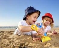 Zabawa przy plażą Zdjęcia Stock