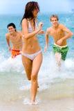 Zabawa Przy Plażą Zdjęcie Royalty Free