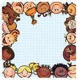 zabawa różny ramowy dzieciak żartuje rasy s Obrazy Stock