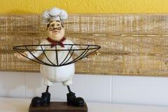 Zabawa szefa kuchni figurka Fotografia Royalty Free