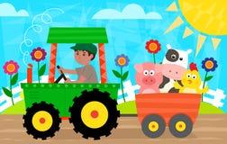 Zabawa w gospodarstwie rolnym Obrazy Stock