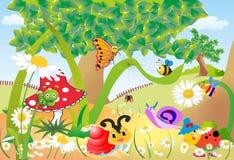 Zabawa w lesie royalty ilustracja