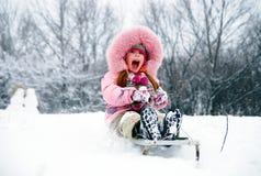 zabawa zima Fotografia Royalty Free