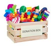 Zabawek darowizn pudełko Obrazy Royalty Free