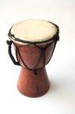Zabawka - afrykański bęben odizolowywający Fotografia Royalty Free