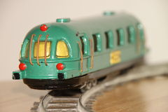zabawka antykwarski pociąg Obrazy Stock