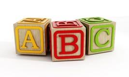 Zabawka bloki odizolowywający na bielu Zdjęcia Stock