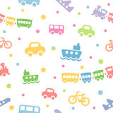 zabawka deseniowy bezszwowy transport Zdjęcia Royalty Free
