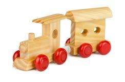 Zabawka drewniany pociąg zdjęcie stock