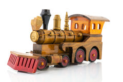 Zabawka drewniany pociąg Zdjęcia Royalty Free