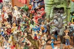 Zabawka i akci postaci musuem Fotografia Stock