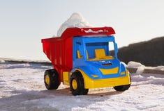 Zabawka jak śnieżnego usunięcia maszyna Zdjęcia Stock