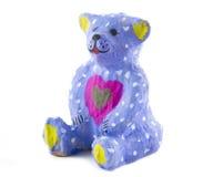 Zabawka malujący niedźwiedź Zdjęcia Royalty Free