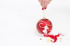 Zabawka na śnieżnym nowym roku Obraz Stock