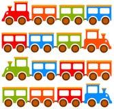 Zabawka pociągi ilustracja wektor