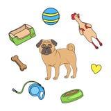 Zabawka set dla psa ilustracji