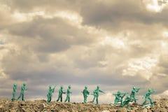 Zabawkarscy żołnierze Wojenni fotografia stock