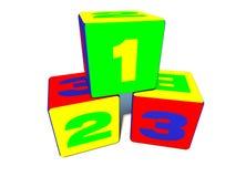 Zabawkarscy blokowi sześciany ilustracji