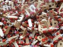 Zabawkarscy drewniani listy obrazy stock