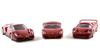 Zabawkarscy Ferrari samochody Obrazy Royalty Free