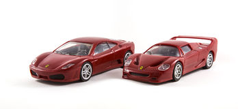 Zabawkarscy Ferrari samochody Zdjęcia Stock
