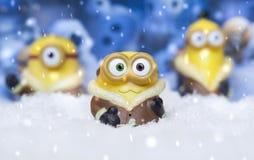 Zabawkarscy kolonel w śniegu fotografia royalty free